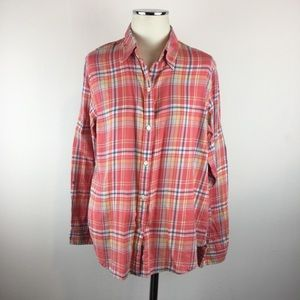 Lauren Ralph Lauren Plaid Flannel Button Up Shirt